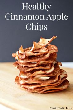 Healthy Cinnamon Apple Chips is part of Baked apple chips recipe - Thinly sliced apples dusted with cinnamon and baked low and slow in the oven create delicious, crunchy, and healthy apple chips Your new favorite snack! Cinnamon Apple Chips, Baked Apple Chips, Baked Apple Slices, Recipe For Apple Chips, Apples With Cinnamon, Yummy Food, Tasty, Apple Chips, Gastronomia