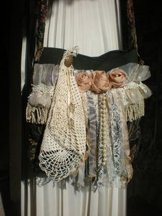 Shabby Chic Tote  Bohemian Gyspy Bag  Romantic by Pursuation, $48.00