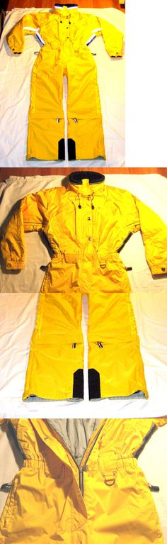 Snowsuits 62178: Marker Snowboard Ski Suit Women S Size 10 Yellow Black (7 Total Cargo Pockets) -> BUY IT NOW ONLY: $47 on eBay!