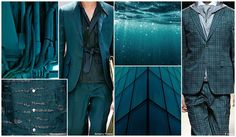 Deep Ocean - Luxurious shades of dark teal reflect the summer landscape. Mostly shown in tonal variations, it is forecasted to be one of the key hues for menswear for S/S 16.