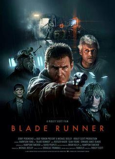 """""""Blade Runner"""" movie poster by Candykiller"""