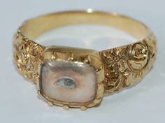 Eye miniature ring. Georgian, Dated 1816