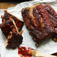 Contrary to popular belief ribs are not supposed to fall off the bone. They should be smoked at low temperatures for long periods of time and should stick to the bone a bit when you …
