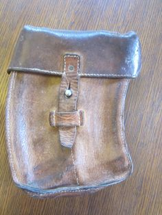 Vintage Leather Ammunition Pouch - Leather Pouch - Ammo Case - Leather Case by GwenAndAlmas on Etsy