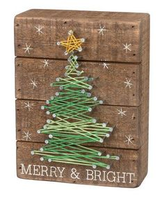 Loving this 'Merry & Bright' String Art Wall Décor on #zulily! #zulilyfinds