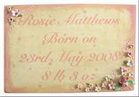 BIRTH ANNOUNCEMENT WOODEN PLAQUES