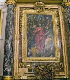 Disrobing of Christ - by El Greco - Sacristy - Toledo Cathedral - Toledo, Spain     This painting of the Disrobing of Christ is by El Greco and was commissioned for this location in 1587.