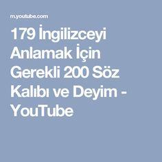 179 İngilizceyi Anlamak İçin Gerekli 200 Söz Kalıbı ve Deyim - YouTube
