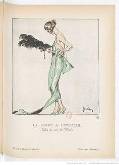 La femme à l'éventail, La Gazette du bon ton / directeur Lucien Vogel, novembre 1920