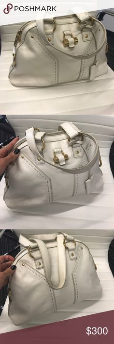YSL Medium Ivory Muse Bag Loved but still in great condition Yves Saint Laurent Bags Satchels