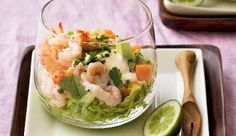 Tropical seafood cocktail: Serve these as an elegant dinner party starter.