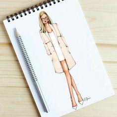Style of Brush von Gizem Kazancıgil gizem kazancigil - illustration character KLAS Dress Design Drawing, Dress Design Sketches, Fashion Design Sketchbook, Fashion Design Drawings, Fashion Sketches, Drawing Sketches, Drawing Style, Dress Designs, Sketching