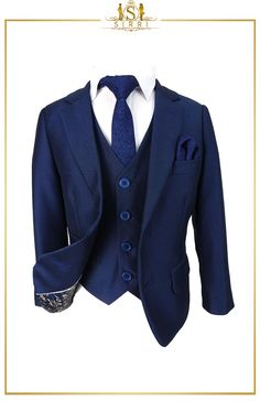 With its formal Italian style this outfit exemplifies luxury. With its modern take on a classic suit, the fabric, the construction, and the details are what you would find in something that's made to order. Shop now at SIRRI kids #boys wedding outfits #prom suits for boys #page boy suit #boys suits sale