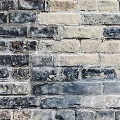Create an exposed brick feature wall with our Mixed Brick Wallpaper Mural. With a quirky mix of bricks in varying colours and sizes and with a distinctly rustic feel to it; this mural would work wonders in any space. Black Brick Wallpaper, Brick Wallpaper Mural, Painted Brick Walls, White Brick Walls, Grey Brick, Faux Brick, Exposed Brick, House Color Palettes, Industrial Wallpaper