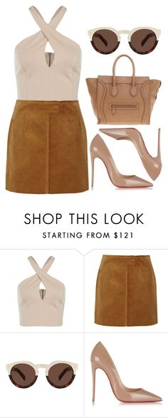 """Like we're famous"" by dontneedfashion on Polyvore featuring Topshop Unique, Illesteva, Christian Louboutin, CÉLINE, women's clothing, women's fashion, women, female, woman and misses"