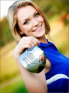 How To Improve Your Game In Golf. Do you need to learn more about the game of golf? If you do not know how to play golf, you are not the only one! Girls Golf, Senior Girls, Ladies Golf, Women Golf, Golf Senior Pictures, Senior Pictures Boys, Senior Portrait Poses, Portrait Photo, Senior Session