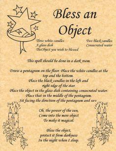 Bless an Object Spell