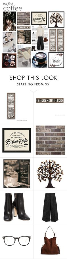 """""""First the Coffee, Then the Things"""" by yummymummystyle ❤ liked on Polyvore featuring Pottery Barn, Color Me, Benzara, Dolce&Gabbana, Simone Rocha, Illesteva, Nili Lotan, AllSaints, Winter and coffeebreak"""