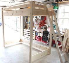 diy loft beds for small rooms & diy loft bed ; diy loft bed for kids ; diy loft bed for adults ; diy loft beds for small rooms ; diy loft bed with desk ; diy loft bed for kids how to build ; diy loft bed for kids small room Loft Bed Diy, Adult Loft Bed, Build A Loft Bed, Loft Bed Plans, Murphy Bed Plans, Loft Beds For Small Rooms, Small Loft, Bedroom Small, Bunk Beds With Stairs
