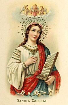 St Cecilia, November 22, patron saint of musicans