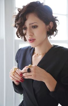 Short Curly Side-Part