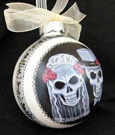Till Death Skull Wedding Ornament