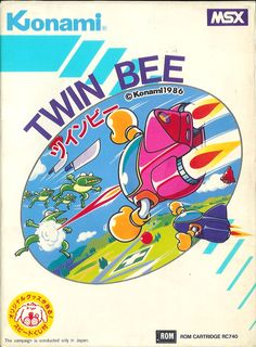 Twin Bee for MSX. (front)
