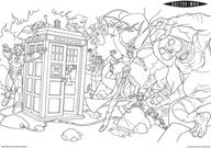 Doctor Who coloring pages. YES. JUST YES.