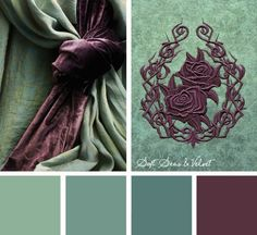 Go bold & sophisticated even with single color embroidery designs using this Soft Seas & Velvet color inspiration.