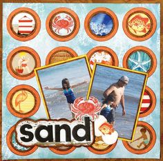 Sand layout featuring the new Boardwalk Collection. #BoBunny