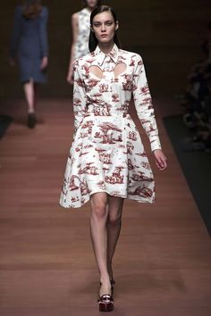 A Joyful Fabric: Toile. Carven spring 2013