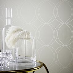 Savoy White / Mica Wallpaper by Graham and Brown