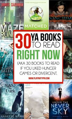 30 great young adult books to read if you liked Divergent or Hunger Games! Some…