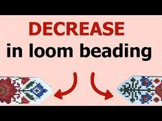 How to decrease in loom beading? (Bead Loom - step by step tutorial for beginners) - How to decrease in loom beading? (Bead Loom – step by step tutorial for beginners) - Loom Bracelet Patterns, Bead Loom Bracelets, Bead Loom Patterns, Jewelry Patterns, Weaving Patterns, Beading Patterns Free, Beading Tutorials, Beading Projects, Bead Loom Designs