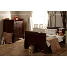 Buy Obaby Lincoln 2 Piece Nursery Furniture Set   Walnut At Argos.co.uk