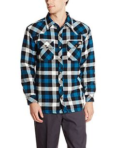 Dickies Men's Quilted Lined Shirt Jacket #deals