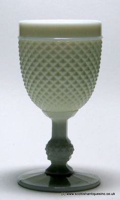 Diamond Moulded Milk Glass. White and cream coloured glass was at the height of fashion in the late 19th century but examples are known from the 18th century