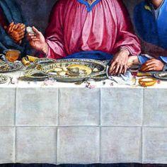 Alessandro Allori - Ultima cena (dettaglio) - 1582 - realizzata per il Monastero di Astino, oggi è esposta nel Palazzo della Ragione di Bergamo