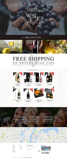 Template 62177 - Wine Store  Responsive Shopify  Theme http://ecommerce.jrstudioweb.com/