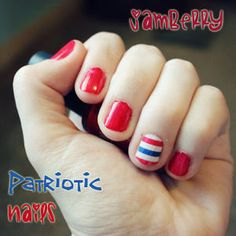 Jamberry Patriotic Nails