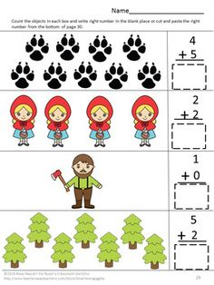 fairy tale activities little red riding hood worksheets pre k k special ed tpt items. Black Bedroom Furniture Sets. Home Design Ideas