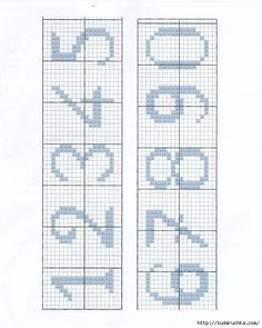 Advent Christmas cross stitch stocking calendar numbers for the stockings 2 of 5