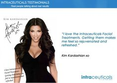 Excited to introduce Intraceuticals endorsed by celebrities like Kim Kardashian! Appointments available Friday!