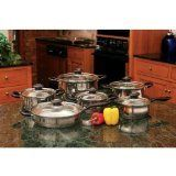 Wyndham House 12 Piece Stainless Steel Cookware Set *** Check out this great product.