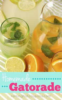 Homemade Gatorade Sponsored Link *Get more FRUGAL Articles, tips and tricks from Raining Hot Coupons here* Repin It Here Homemade Gatorade There is nothing more refreshing on a hot day then a cool drink. It becomes so easy to run to the store or into the local coffee shop to grab something cold, but why not try …