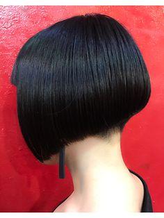 ぱっつんボブ 刈り上げ サイド - Yahoo!検索(画像) Hair Dye Colors, Hair Color, Shaved Nape, Really Short Hair, Straight Bangs, Hair Tattoos, Bowl Cut, Different Hairstyles, Bad Hair