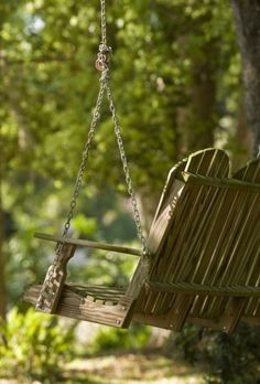 Adirondack chair style swing...love
