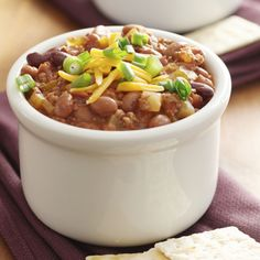 This beef and bean chili recipe is perfect filling lunch for a hungry family.  It is a great meal to make if company is coming as you can keep it on low on the stove top or re-heat as needed.. Beef and Bean Chili Recipe from Grandmothers Kitchen.