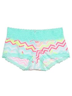 Lace Trim Boyshort Panty ~ pretty design