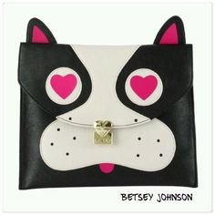 🆕 Betsey Johnson pug clutch purse Betsey Johnson pug clutch. Gold tone locket in front with logo. Button snap closure. Measures approx 8.5x11. Brand new. Betsey Johnson Bags Clutches & Wristlets